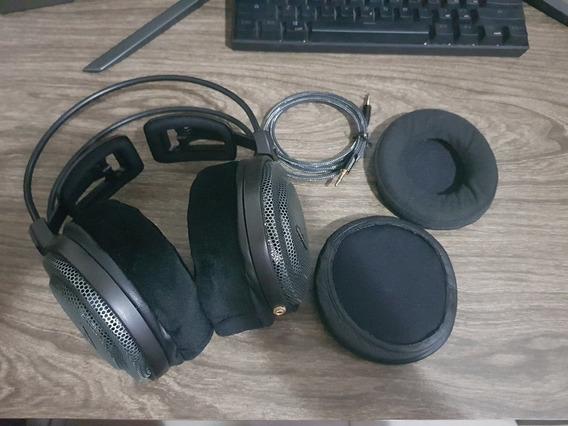 Headphone Audio Technica Ath Ad700x Gamer Pro Mod + Ear Pads
