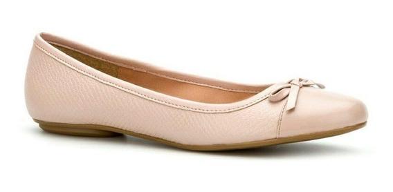 Flat Ballerina De Piel Color Rosa A.t 1.5 Cms Mod 236-8283