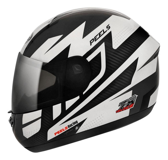 Capacete para moto integral Peels Spike Veloce preto-chumbo tamanho 60