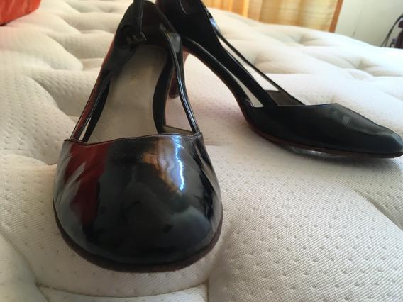 Zapatos Rapsodia De Charol Guillermina Con Taco