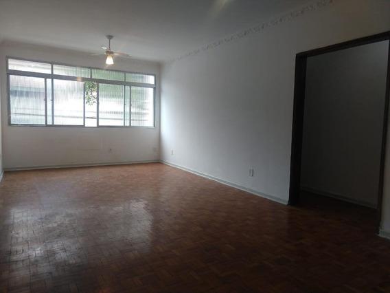 Apartamento Com 3 Dormitórios Para Alugar, 145 M² Por R$ 2.500,00/mês - Boqueirão - Santos/sp - Ap1077