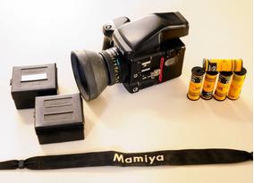 Câmera Analógica Mamiya 645 Pro Tl Completa E Bem Conservada