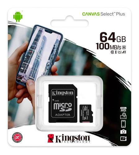 Memoria Microsd 64gb Kingston Clase 10 Wow
