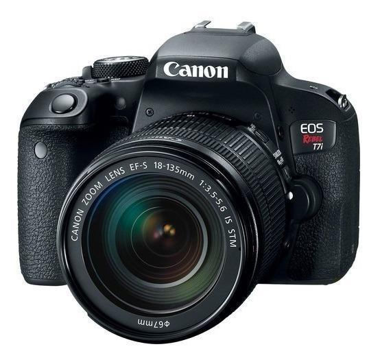 Canon EOS Rebel T7i DSLR cor preto