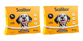 Kit 2 Coleiras Antipulgas Scalibor Cães Grandes 65cm