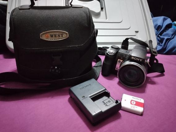 Camera Semi Profissional Cyber Short Sony Dsc-h7