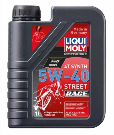 Aceite Liqui Moly Motorbike 4t Synth 5w 40 Street Race