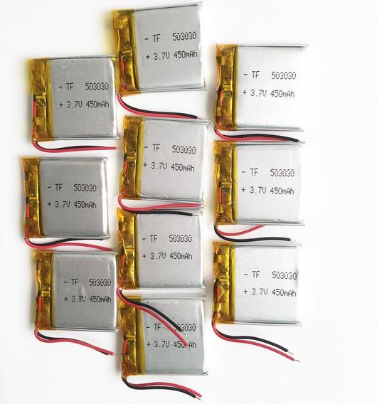 Bateria Gps Mp3 Fone Caneta Espia 450mah 2 Fios 3,7v 503030