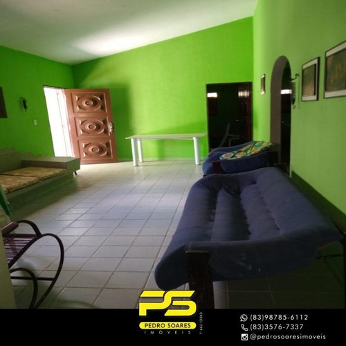 Casa Com 4 Dormitórios Para Alugar, 320 M² Por R$ 20.000/temporada - Camboinha - Cabedelo/pb - Ca0694
