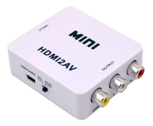 Mini Adaptador Convertidor Señal Hdmi A Rca Audio Y Video