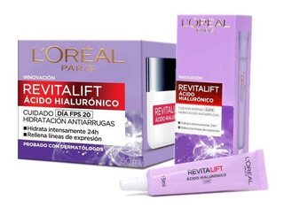 Crema Antiarrugas Loreal Revitalift Hialuronico Dia + Ojos