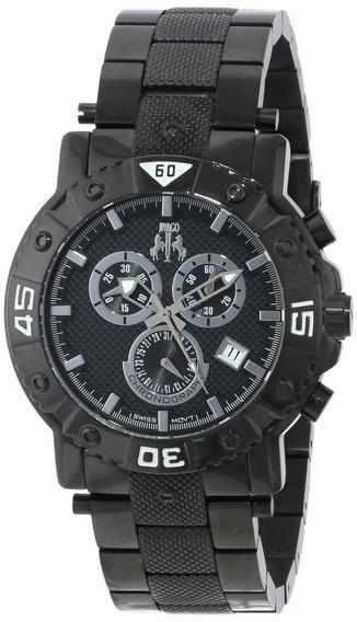 Reloj Jivago Titan Acero Inoxidable Negro 100m Hombre Jv9121