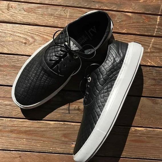 Sapatênis Slip Armani De Amarrar Shoes