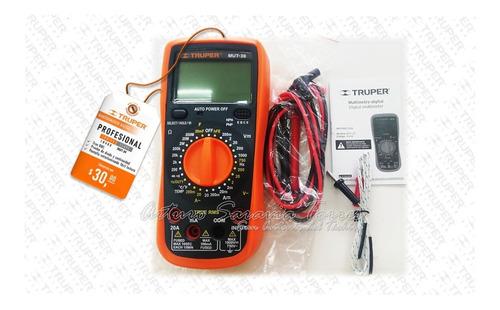 Multímetro Digital Professional Truper Mut-39 Código:10402