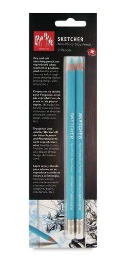 Lápis Azul Caran Dache Sketcher Non-photo (2 Unidades)