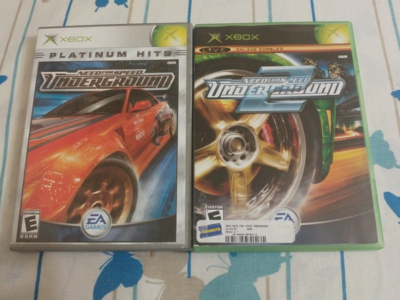 Need For Speed Underground Xbox 1 + 2 Originais Na Caixa!l