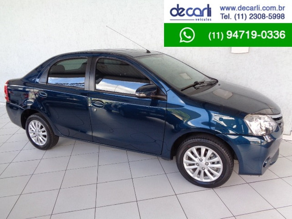 Toyota Etios 1.5 Xls Sedan (flex) Azul - 2015/2016