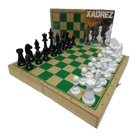Tabuleiro Estojo Madeira P/xadrez-c/peças-intelectus Suzano