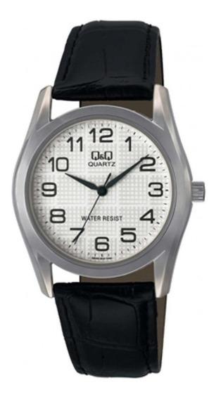 Relógio Q&q Q638j304y Masculino Couro