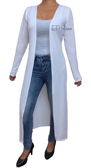 Sobretodo Kimono Largo Cardigan Ajustado Moda Mujer Juvenil