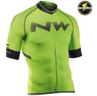 Jersey Northwave Extreme Jrs Color Green Fluo Siclismo