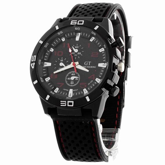Lote 3 Pzas. Reloj Gt Shadow Deport Correa De Silicon- Rojo