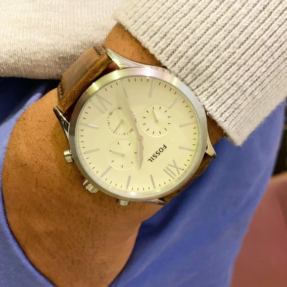 Relógio Fossil Pulseira De Couro Original Envio No Mesmo Dia