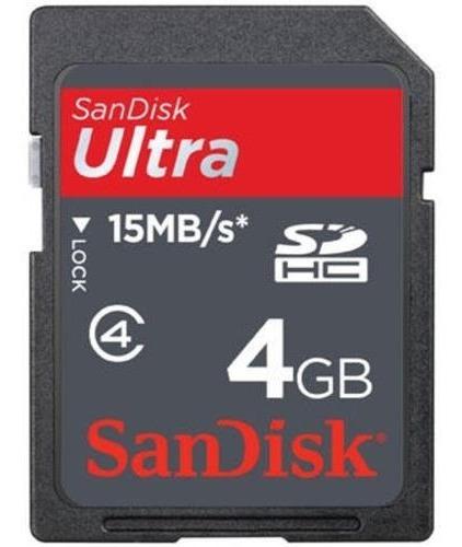 Cartão De Memória Sdhc Ultra Sandisk 4gb Original Lacrada