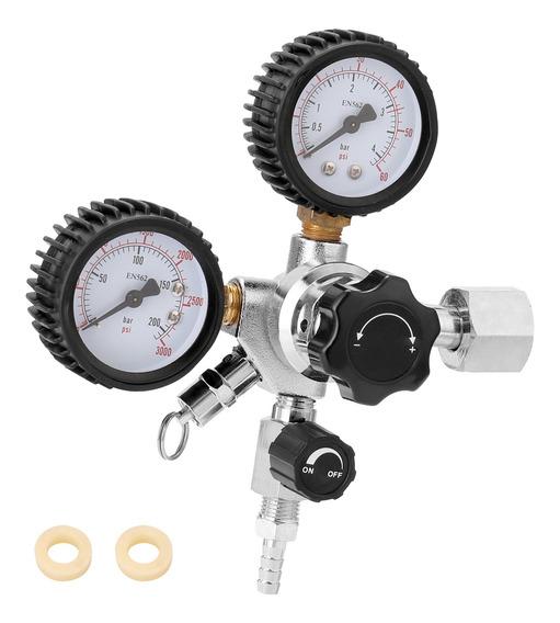 Tickas CGA320 Barril de cerveza Regulador de CO2 V/álvula de alivio de presi/ón de seguridad 0-3000 PSI Tanques Presi/ón ajustable