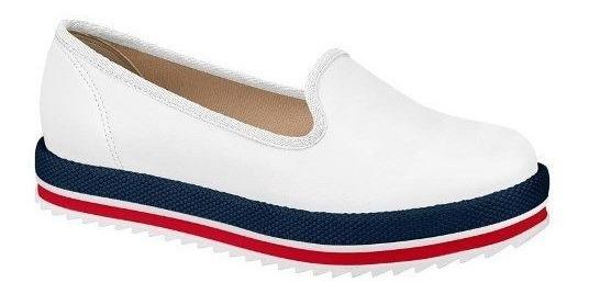 Sapato Feminino Beira Rio Conforto Branco Verniz 4196.300