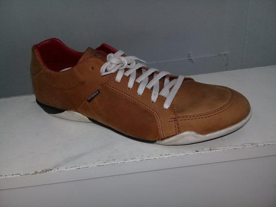 Zapatillas Oxigeno Vip Brown 100%cuero Talles 41 Al 44