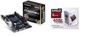 Kit Gamer Gigabyte Fm2 + A4 6300 + 8gb Ddr3 + 9800gt