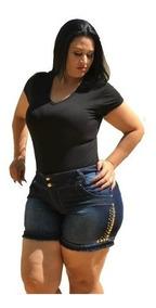 Roupas Femininas Shorts Jeans Plus Size C/lycra 44-54