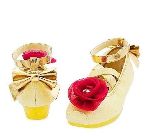Sapatinho Cristal Bela E A Fera Flor Original Disney Glitter
