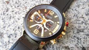 Relógios Esportivos Luxo Militar Cronógrafo Pulso De Couro