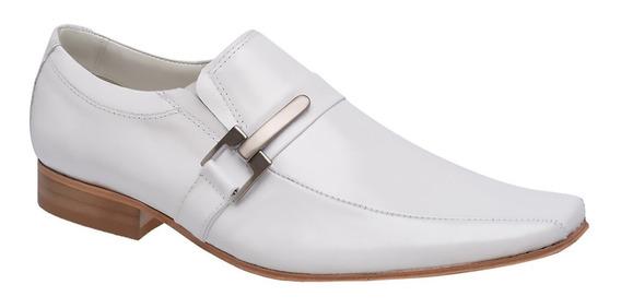 Sapato Social Branco Bigioni P/ Médicos Solado Couro 410