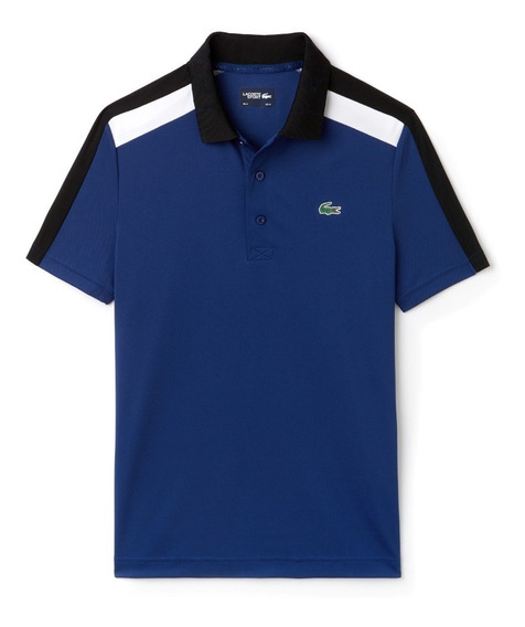 Polo Lacoste Sport Pique Technical Ultra Dry 2xl Blue/black