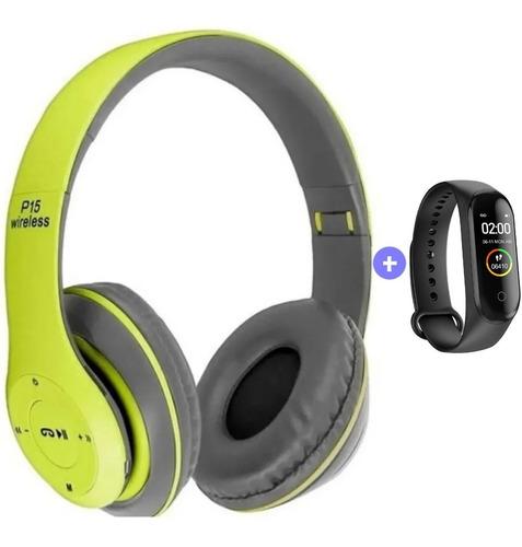 Auriculares Bluetooth P47 Inalámbricos Micro Sd + Smartwatch