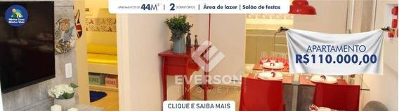 Apartamento Com 2 Dormitórios À Venda, 44 M² Por R$ 110.000 - Centro - Santa Gertrudes/sp - Ap0525