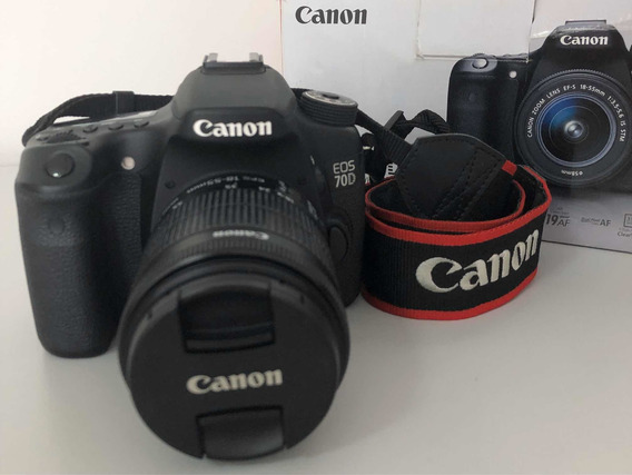 Câmera Fotográfica Canon 70d+lente 18-55+4 Baterias +acessor