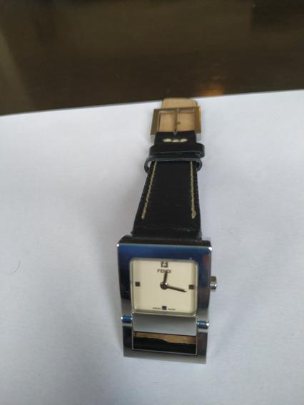 Relógio Fendi Quartz Safira Aço Original Feminino