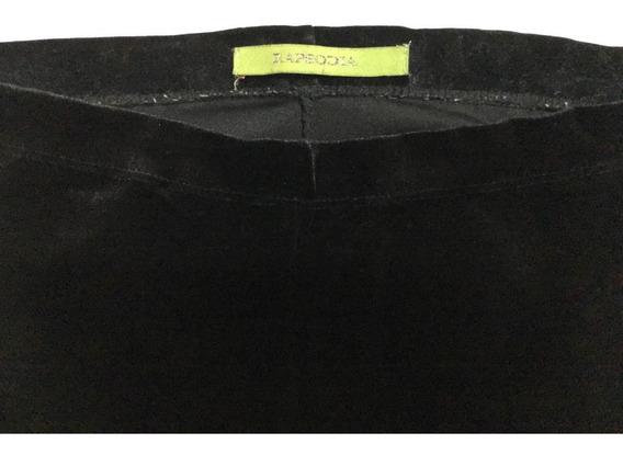 Pantalón Calza De Terciopelo Color Negro Usado