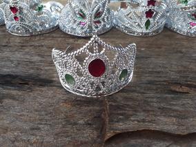 120 Coroas Princesa Tiara Pedras Colorida - Promoção
