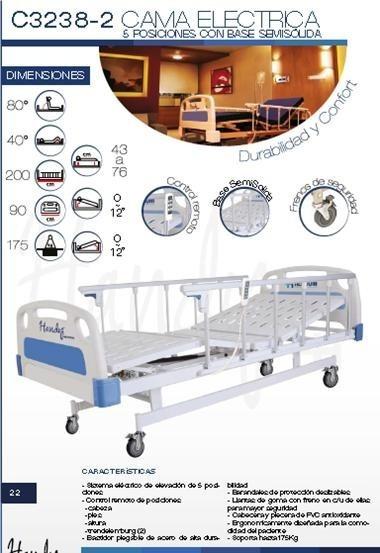 Cama Hospitalaria Electrica 5 Posiciones Con Colchón