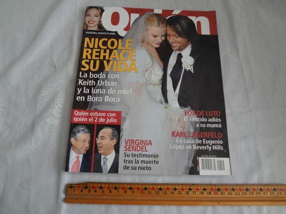 Revista Quien, Julio De 2006, Nicole Kidman Y Su Nueva Boda