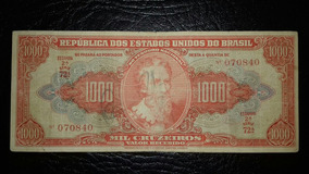 Cédula C-104 - 1.000 Cruzeiros, Autografada (lt084r)