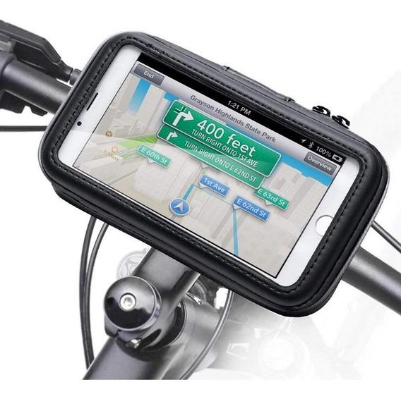 Suporte Celular 6.3 Gps P/ Moto Bike Fixa No Guidão Promoção