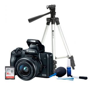 Kit Canon M50 +tripie A1 +16gb Ultra + Kit D/limpieza L1