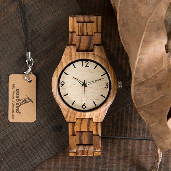 Relógio Lançamento Bobo Bird Promoção Na Caixa Original