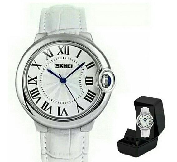 Relógio De Pulso Feminino Original Skmei 9088 Prova D Água